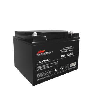 Аккумулятор для ИБП Prometheus energy, 12 вольт 40 ампер, срок службы 6 лет