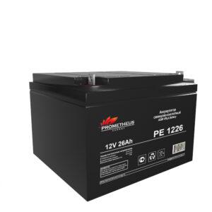 Аккумулятор для ИБП Prometheus energy, 12 вольт 26 ампер, срок службы 6 лет
