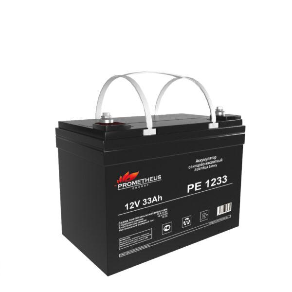 Аккумулятор для ИБП Prometheus energy, 12 вольт 33 ампер, срок службы 6 лет
