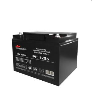 Аккумулятор для ИБП Prometheus energy, 12 вольт 55 ампер, срок службы 6 лет