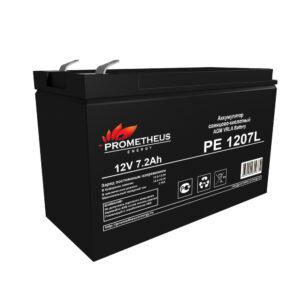 Аккумулятор для ИБП Prometheus energy, 12 вольт 7.2 ампер, срок службы 10 лет