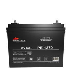 Аккумулятор для ИБП Prometheus energy, 12 вольт 70 ампер, срок службы 6 лет