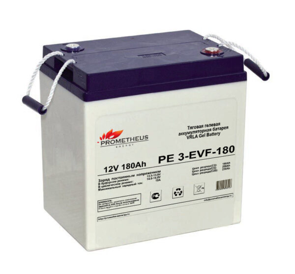 Тяговый гелевый аккумулятор 6 вольт 180 ампер. Срок службы 3 года
