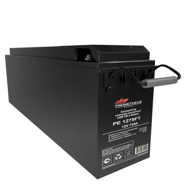 """Аккумулятор FT Prometheus energy для установки в 19"""" и 23"""" шкафы и стойки, 12 вольт 75 ампер, срок службы 15 лет"""